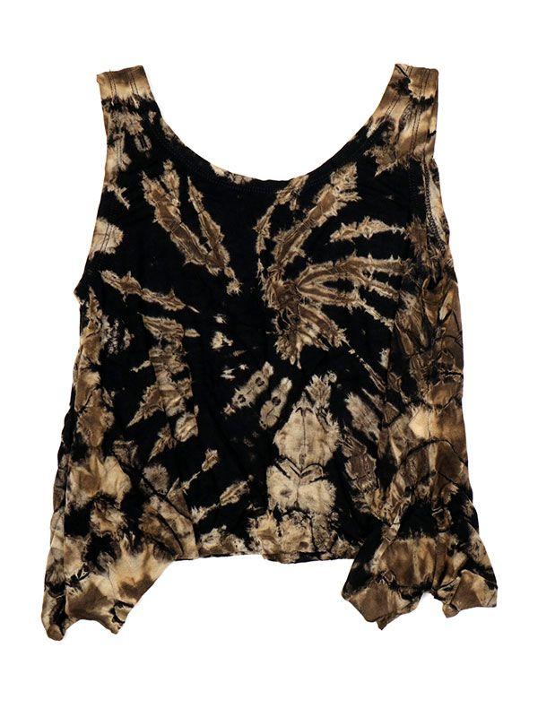 Camisetas y Tops Hippies - Top Tamaño Mini Teñido TOJU01 - Modelo M02
