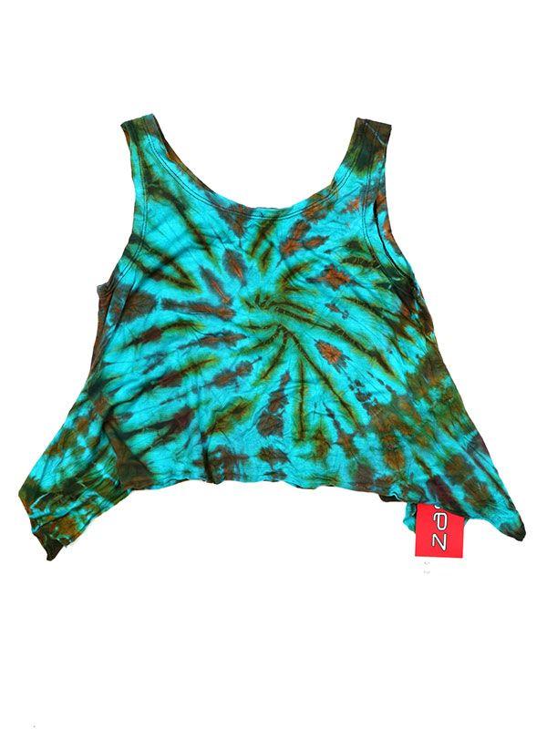 Camisetas y Tops Hippies - Top Tamaño Mini Teñido TOJU01 - Modelo M05