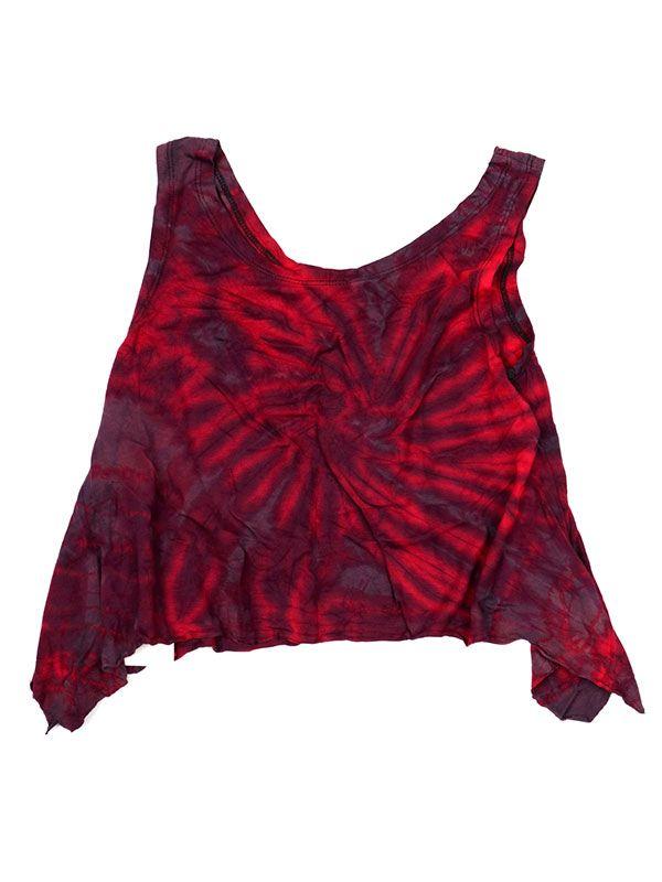 Camisetas y Tops Hippies - Top Tamaño Mini Teñido TOJU01 - Modelo M04