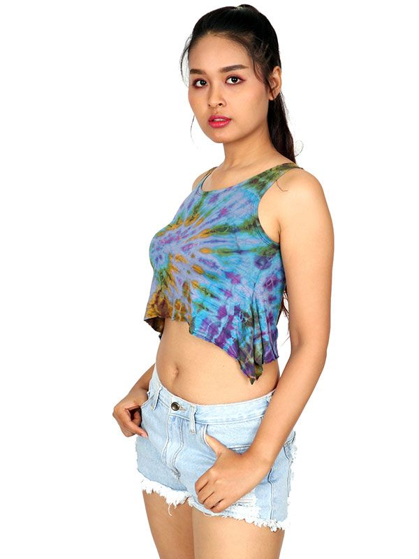 Camisetas y Tops Hippies - Top Tamaño Mini Teñido TOJU01.