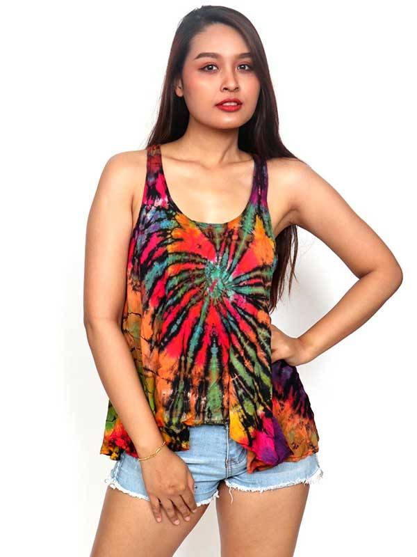 Camisetas y Tops Hippies - Top hippie Tie Dye TOJU02 para comprar al por Mayor o Detalle en la categoría de Ropa Hippie Alternativa para Mujer