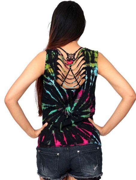 Top multi rasgado espalda Tie Dye - Comprar al Mayor o Detalle