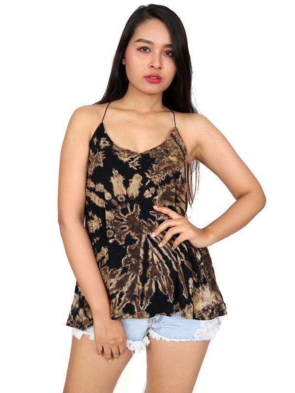 Top blusa amplia recta tirante tie dye TOJU07 para comprar al por mayor o detalle  en la categoría de Ropa Hippie Alternativa para Mujer.