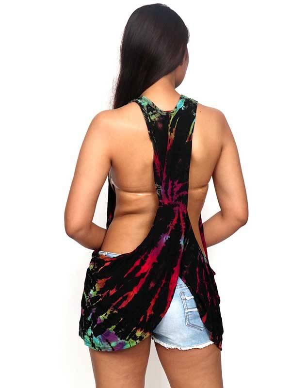 Top tirante tie dye TOJU15 para comprar al por mayor o detalle  en la categoría de Ropa Hippie Étnica para Chicas.