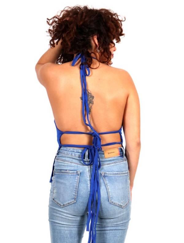 Mini Top hippie con espalda abierta [TOJU16P] para comprar al por Mayor o Detalle en la categoría de Camisetas Blusas y Tops
