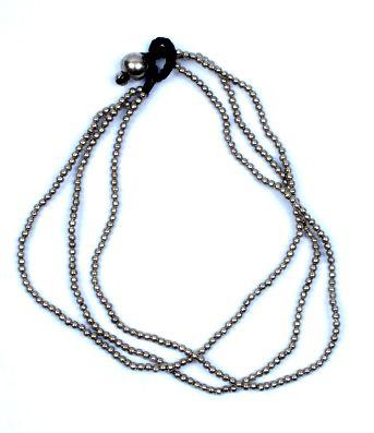 Tobillera bolas de rodio o latón sobre hilo encerado con cascabeles Comprar - Venta Mayorista y detalle