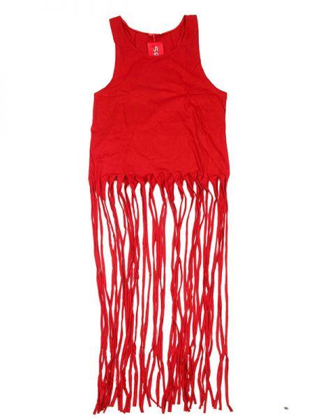 Top liso flecos largos - Rojo Comprar al mayor o detalle