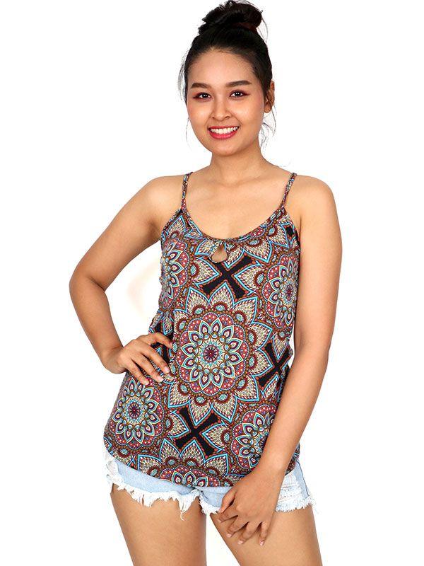 Top hippie estampado mandalas TOSN07 para comprar al por mayor o detalle  en la categoría de Ropa Hippie Étnica para Chicas.