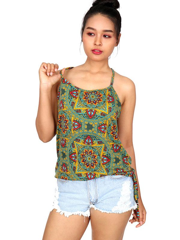 Camisetas y Tops Hippies - Top hippie con estampado mandalas TOSN12.