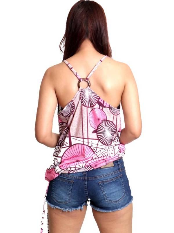 Top hippie estampado Flores con aro en espalda - Detalle Comprar al mayor o detalle