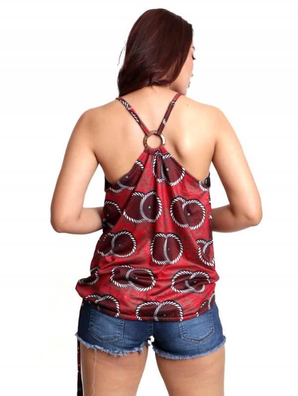 Top hippie estampado con aro en espalda - Detalle Comprar al mayor o detalle