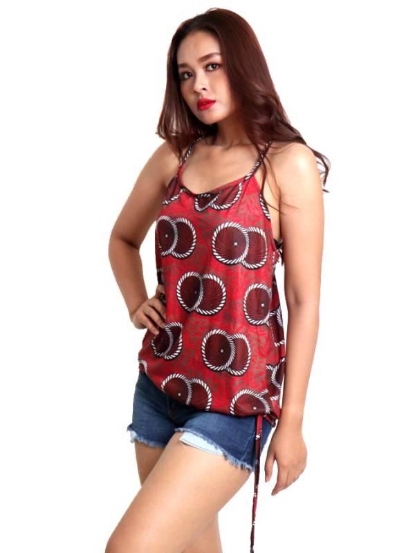 Top hippie estampado con aro en espalda [TOSN15] para comprar al por Mayor o Detalle en la categoría de Camisetas Blusas y Tops