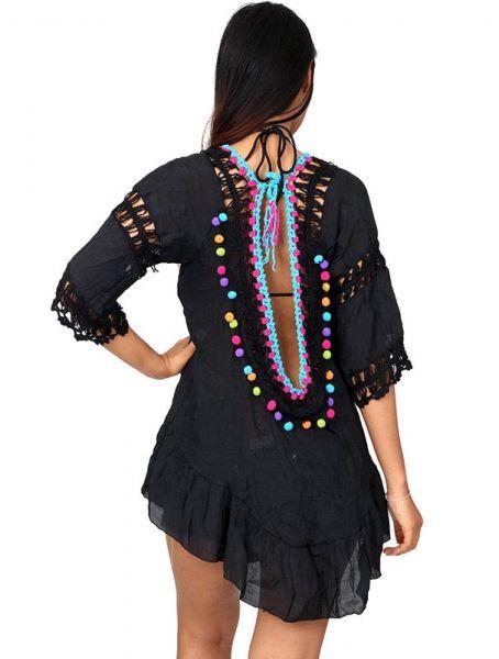 Blusa hippie encaje borlas y ganchillo - Detalle Comprar al mayor o detalle