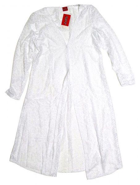 Camisetas y Tops Hippies - Blusa de encaje larga con TOTE03 - Modelo Blanco
