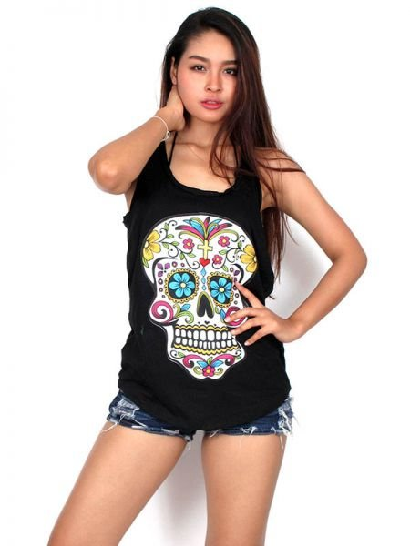 Top calavera hippie para Comprar al mayor o detalle