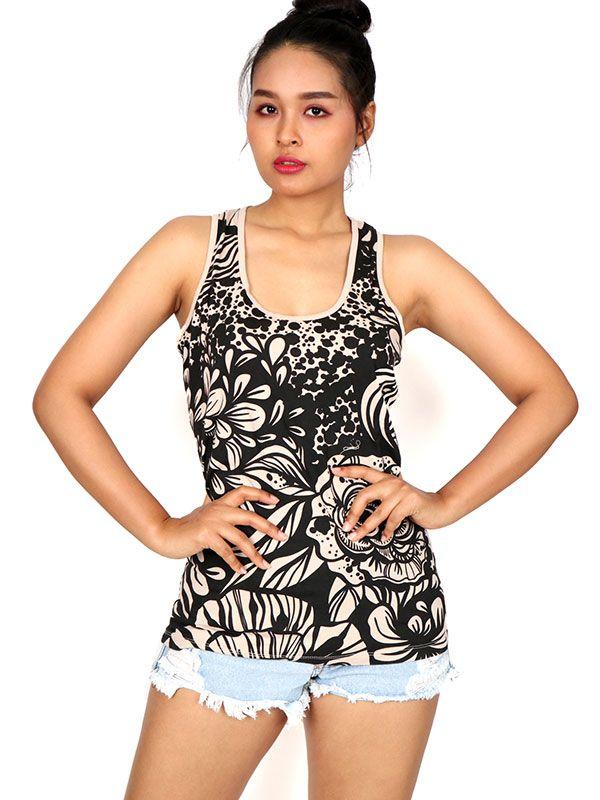 Blusa estampado étnico TOUN44 para comprar al por mayor o detalle  en la categoría de Ropa Hippie Alternativa Chicas.