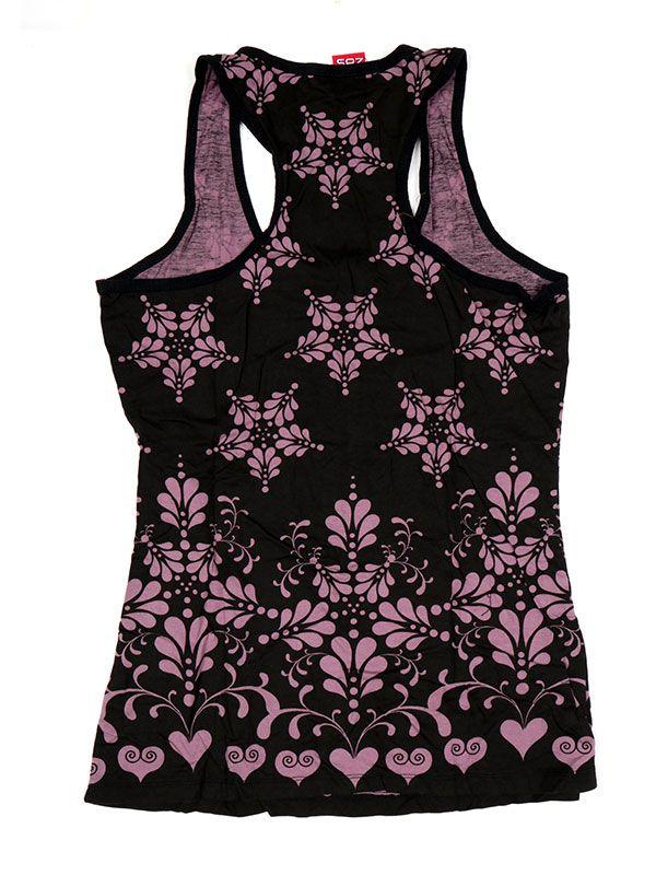 Camisetas y Tops Hippies - Top estampado de flores étnico TOUN47.