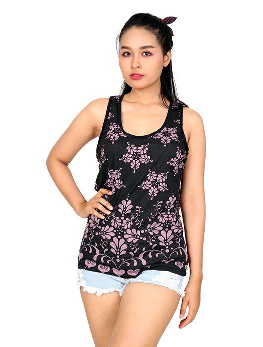 Camisetas y Tops Hippies - Top estampado étnico de flores TOUN47 para comprar al por Mayor o Detalle en la categoría de Ropa Hippie Alternativa para Mujer