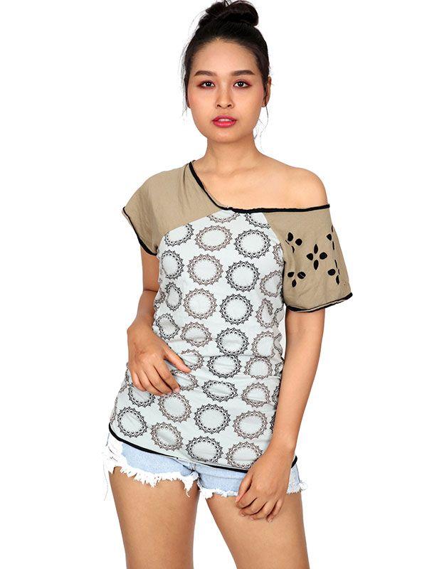 Outlet Ropa Hippie - Blusa con troqueada étnica [TOUN50] para comprar al por mayor o detalle  en la categoría de Outlet Hippie Étnico Alternativo.