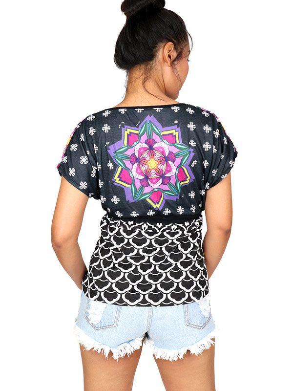 Camisetas y Tops Hippies - Blusa con estampado étnico TOUN55.