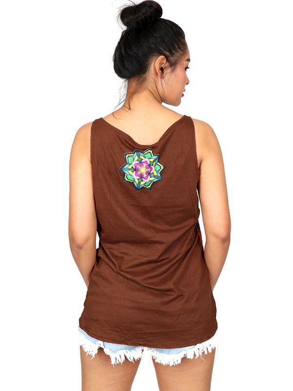 Camisetas y Tops Hippies - Topcon estampado de flores TOUN59.