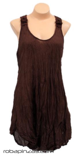 Vestido/blusa algodon fino indigo, ganchillo grueso en espalda Comprar - Venta Mayorista y detalle