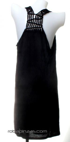 Vestido de algodón suelto con nudos en espalda. Talla única para Comprar al mayor o detalle