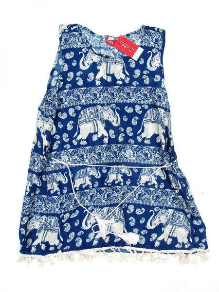 Vestido Rayón Étnico - Azul Comprar al mayor o detalle