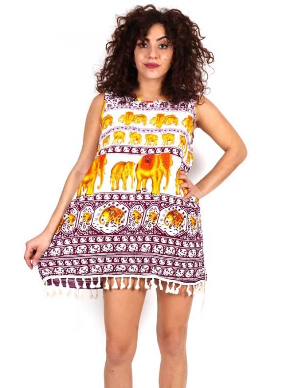 Vestido estampado étnico con cinto cordón . Talla única. Comprar - Venta Mayorista y detalle