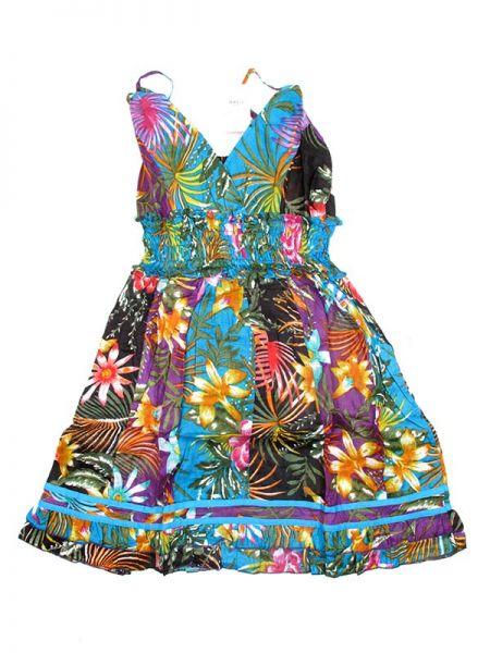 Vestido corto de algodón con estampados coloridos de material Comprar - Venta Mayorista y detalle