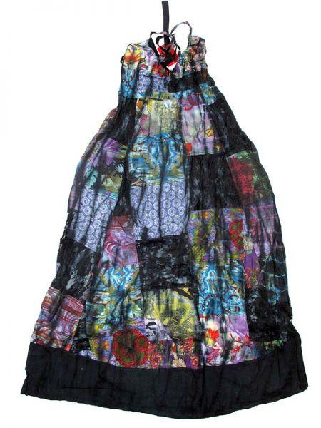 Vestido largo patchwork tirante regulable Comprar - Venta Mayorista y detalle