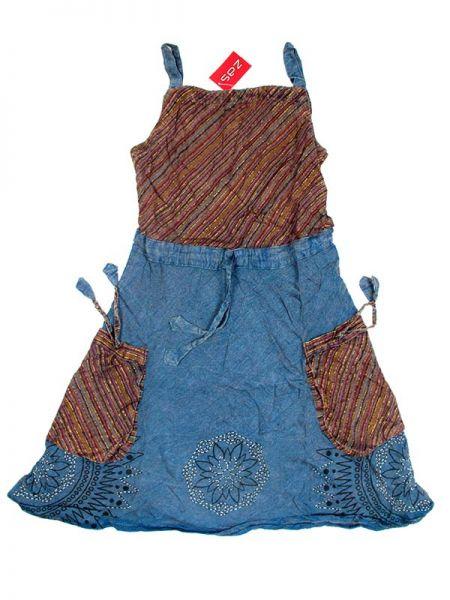 Vestido 100% rayón hippie con bolsillos Comprar - Venta Mayorista y detalle