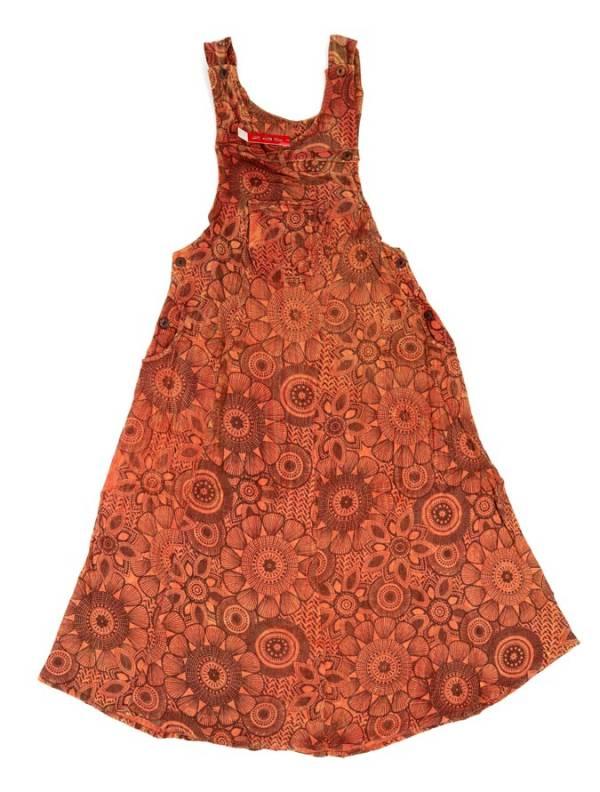 Vestido hippie largo de mandalas - Teja Comprar al mayor o detalle