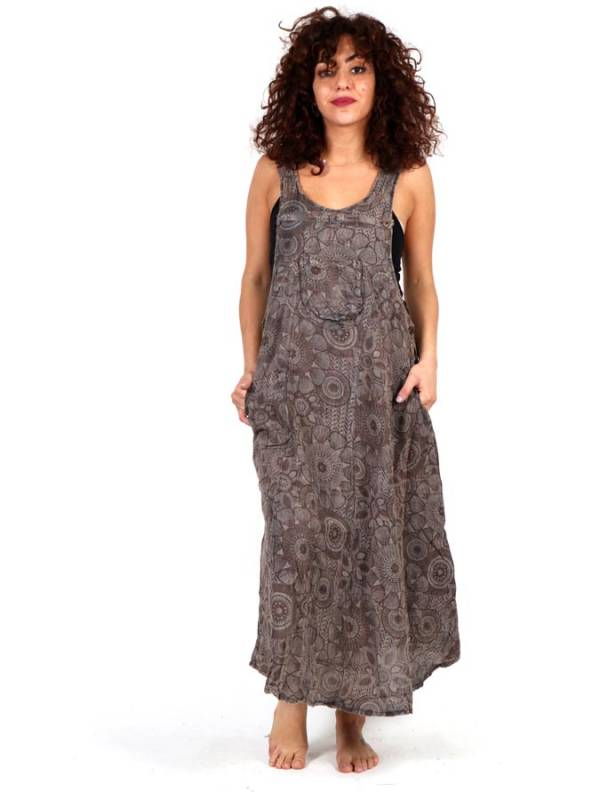 Vestido - peto falda estampado VEEV15 para comprar al por mayor o detalle  en la categoría de Ropa Hippie Alternativa para Chicas.