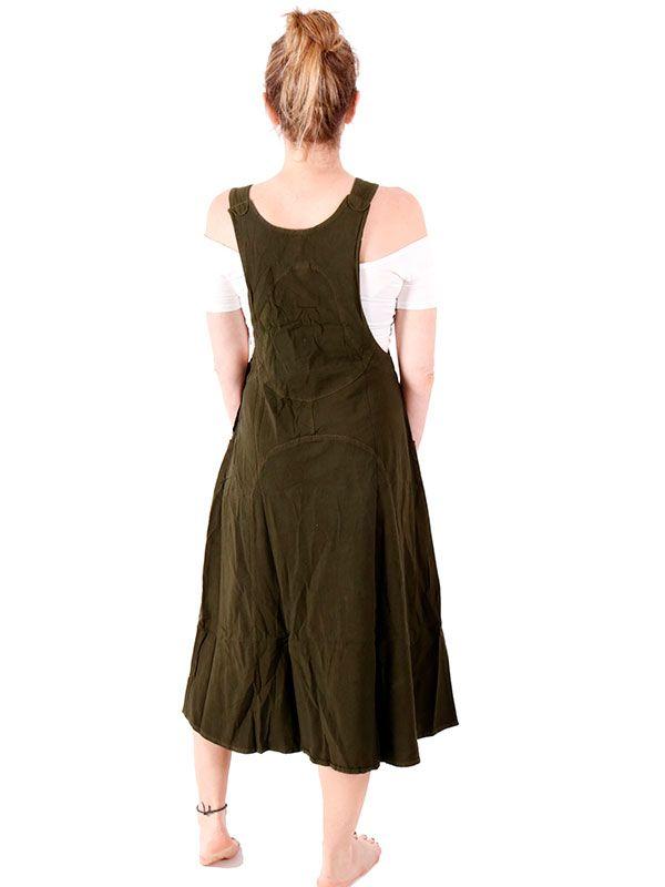 Vestido - peto falda liso - Detalle Comprar al mayor o detalle