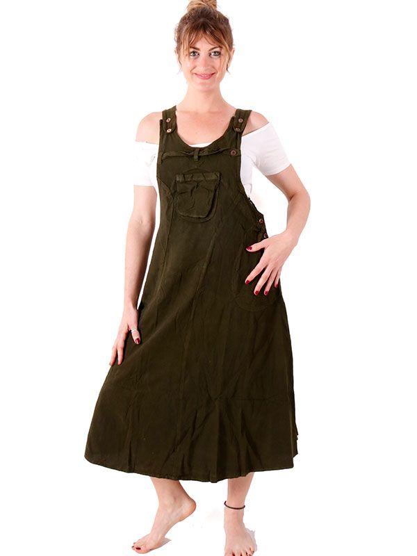 Vestido - peto falda liso VEEV16 para comprar al por mayor o detalle  en la categoría de Ropa Hippie Alternativa para Chicas.