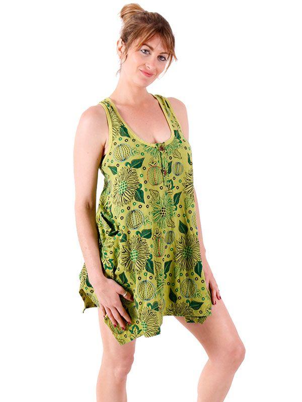 Vestido corto estampado VEEV18 para comprar al por mayor o detalle  en la categoría de Ropa Hippie Alternativa para Chicas.