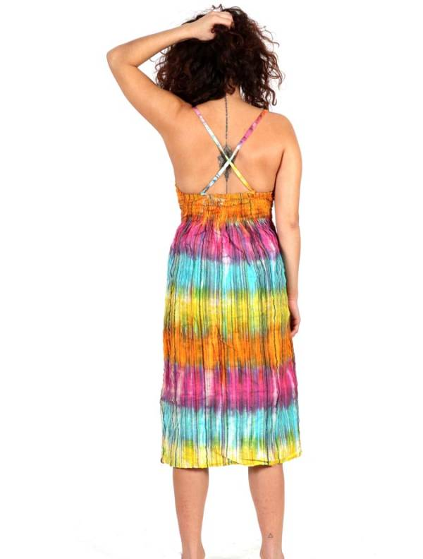 Vestido Hippie Tie Dye Multicolor - Detalle Comprar al mayor o detalle