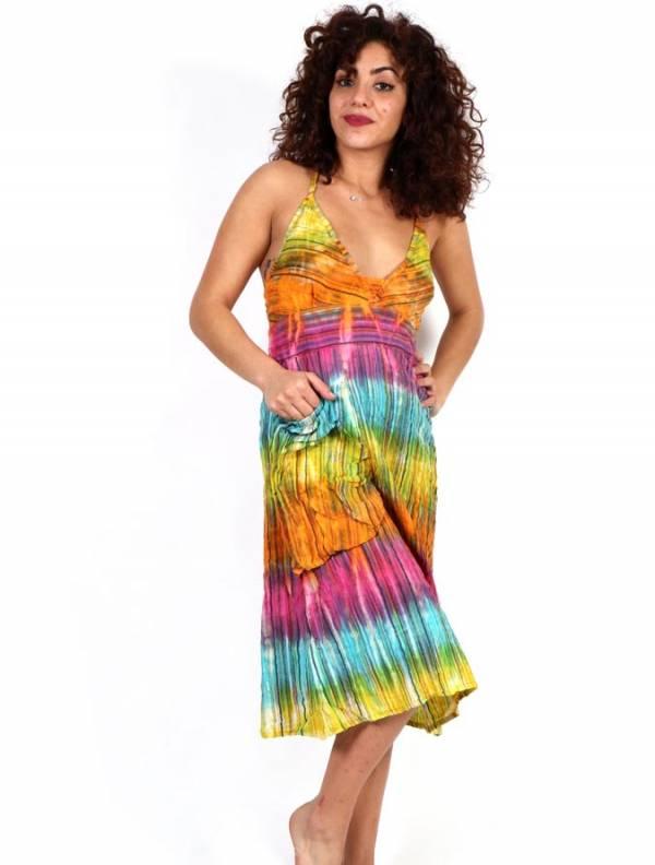 Vestido Hippie Tie Dye Multicolor [VEEV21] para comprar al por Mayor o Detalle en la categoría de Monos Petos y Vestidos largos