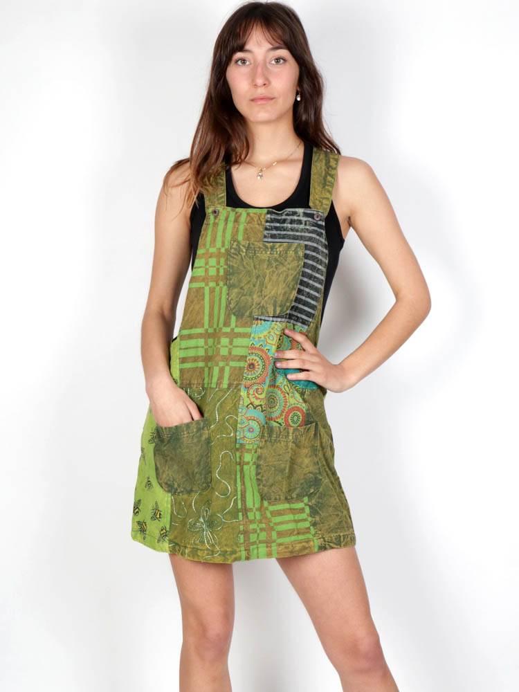 Vestido Hippie patchwork estampado [VEEV22] para comprar al por Mayor o Detalle en la categoría de Vestidos Hippie Boho Alternativos