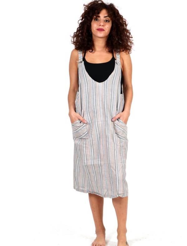 Vestido Hippie de rayas [VEEV23] para comprar al por Mayor o Detalle en la categoría de Monos Petos y Vestidos largos