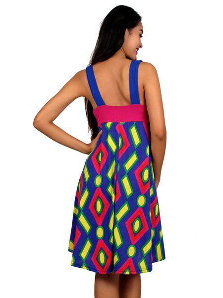 Vestido estampado étnico - Detalle Comprar al mayor o detalle