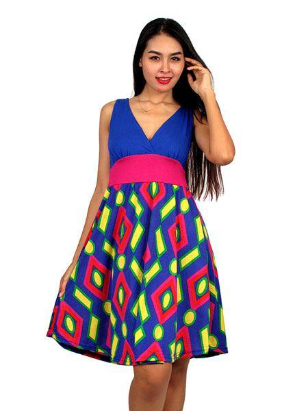 Vestido estampado étnico - Comprar al Mayor o Detalle