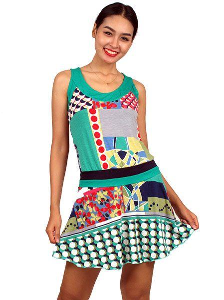 Vestido hippie de colores Comprar - Venta Mayorista y detalle