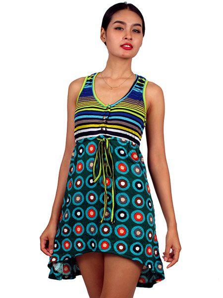 Vestido de rayas y cículos Comprar - Venta Mayorista y detalle