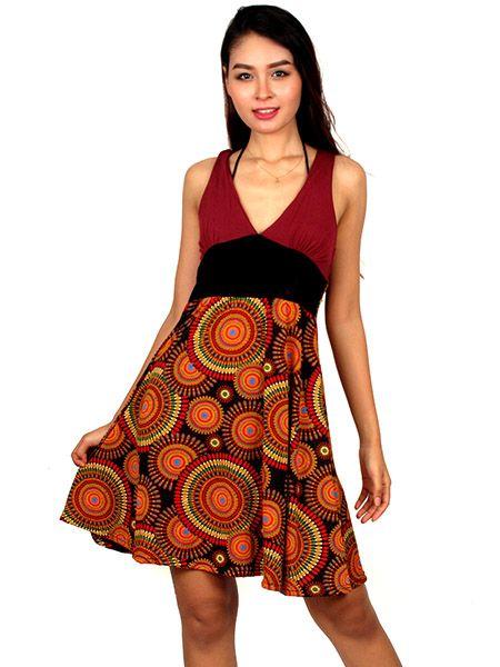 Vestido tirantes mandala colores Comprar - Venta Mayorista y detalle
