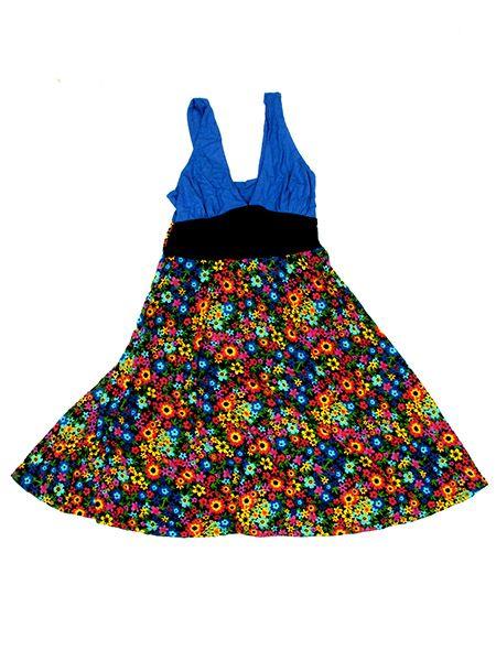 vestido tirantes flores colores, vestido banda central negra Comprar - Venta Mayorista y detalle