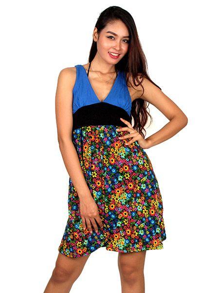 Vestido tirantes flores colores Comprar - Venta Mayorista y detalle