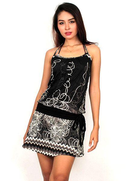 7e8370390d Vestido corto Estampado Flores - VEFI85