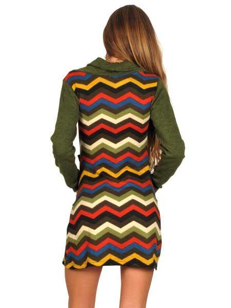 Vestido estampado étnico otoño invierno, manga larga Comprar - Venta Mayorista y detalle
